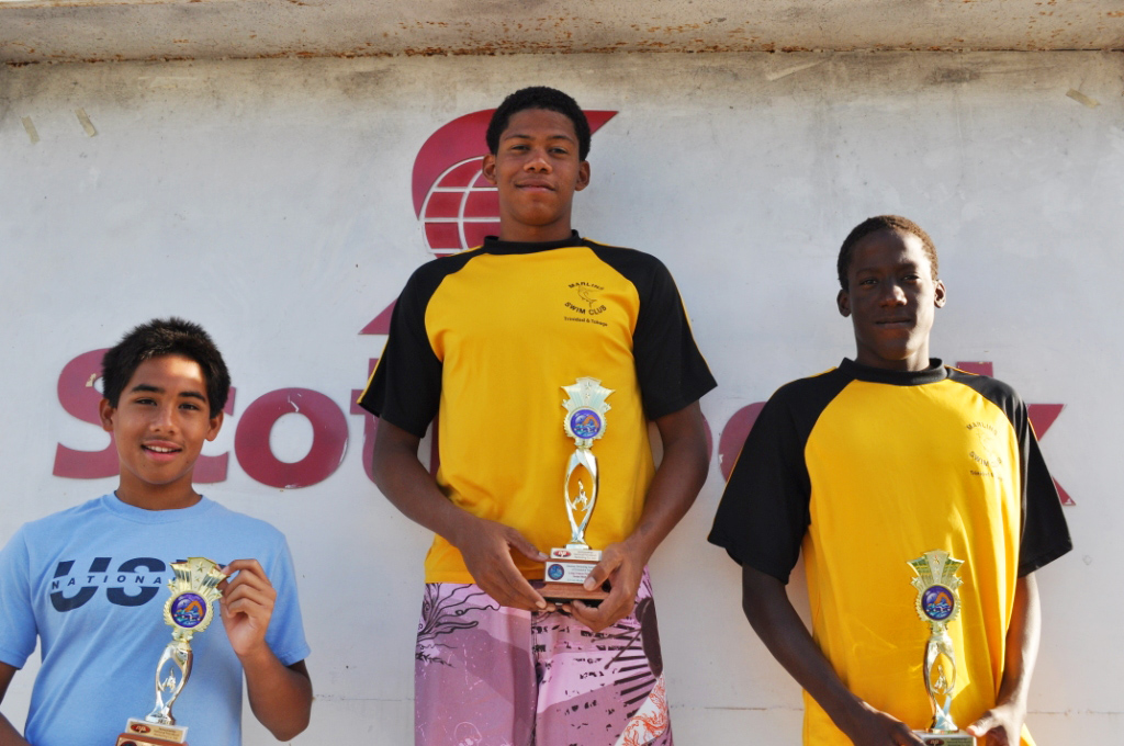 Jabari Baptiste 1st David Wiltshire 2nd 13-14 Boys