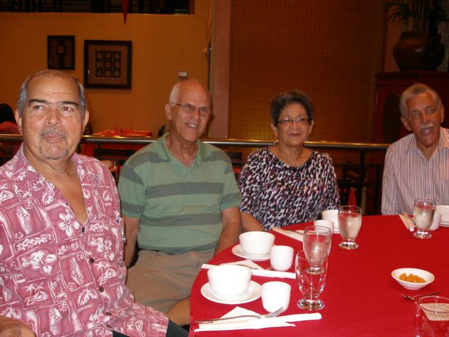 Ken Clarke, long time small pool coach, Kenny Blanchard, Brenda Blanchard and Clive Belgrave, Past President