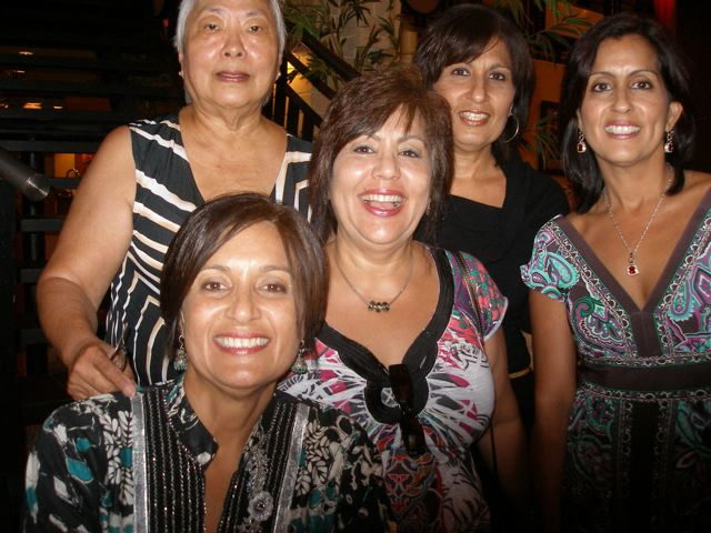 Yolande Chin with the Francois girls - Giselle, Jackie, Janine and Jasmine