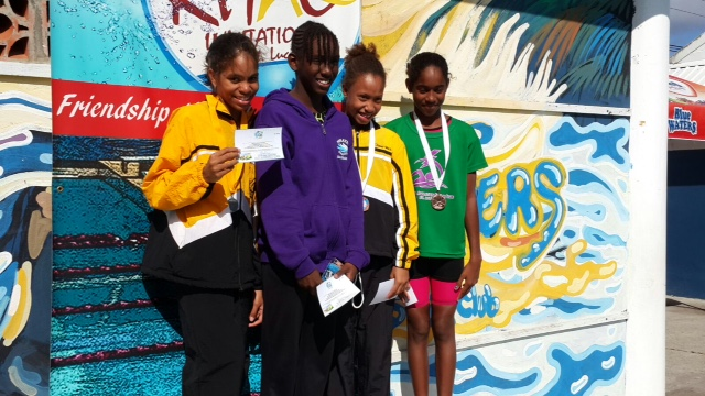 Zoe Anthony and Savannah CheeWah 2nd and 3rd respectively High Point Girls 9-10